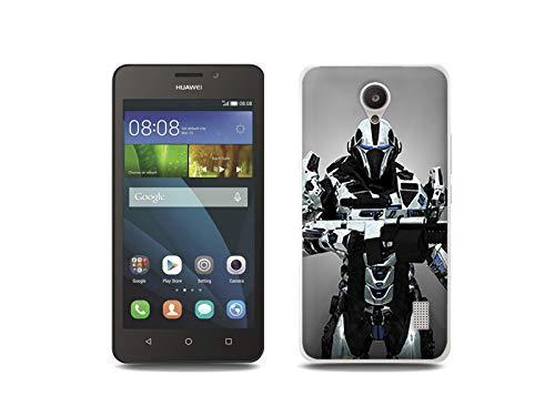 etuo Handyhülle für Huawei Y635 - Hülle, Silikon, Gummi Schutzhülle - Kosmischer Krieger