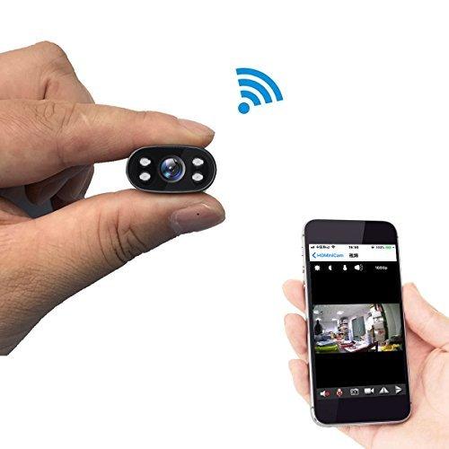 Überwachungskamera PNZEO W1 Mini Kamera 1080P HD Infrarot-nachtsicht-Kamera Mini Drahtlose Wifi Kamera für iPhone/Android Telefon/iPad / PC Fernsicht unterstützung 128GB Micro SD-Karte