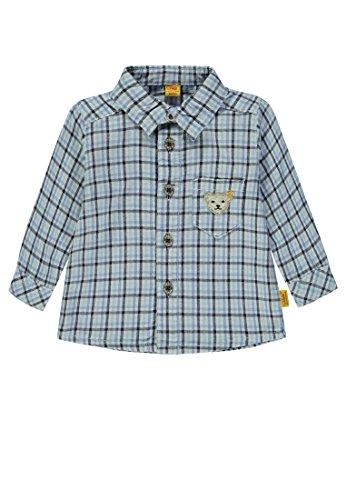 Steiff Baby-Jungen Hemd 1/1 Arm, Blau (y/d Check|Multicolored 0002), 74