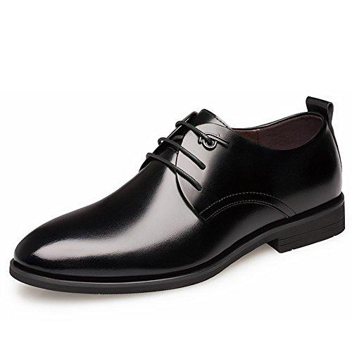Business in pelle uomo vestito scarpe stealth aumenta in autunno6cm British air pizzo uomini casual scarpe-A Lunghezza piede=25.8CM(10.2Inch)