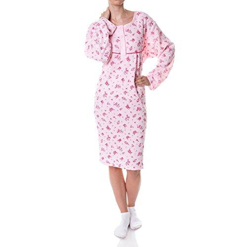 BEZLIT Damen Nachthemd Schlafshirt Nighty Sleepshirt Negligee 21693, Farbe:Rosa, Größe:3XL