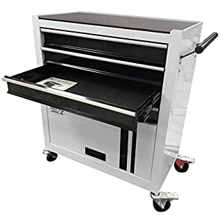 Autojack PTC4D Portable Tool Trolley Cabinet Chest Roller Storage 4 Drawer Garage