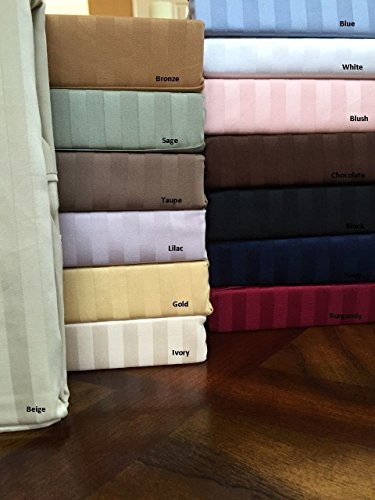 Ägyptische Betten 300-thread-count 100% ägyptische Baumwolle (nicht Mikrofaser Polyester) Fadendichte 300-Bettlaken-Set, Queen, taupe massivem 300TC (Damast Bett-set Königin)