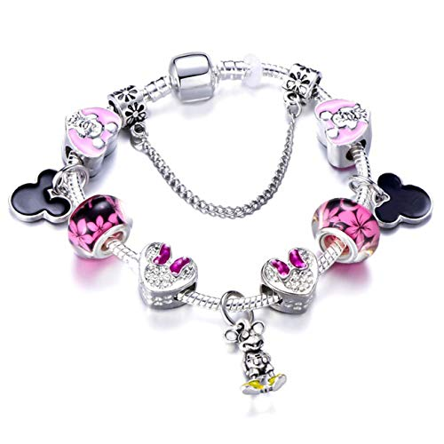 Baostic Armschmuck Romantic Love DIY Charm Bracelet Love Heart Key and Lock Brand Bracelet for Women Jewelry Christmas Year's Gift Blue White Zinc Plated 20cm - Gps-lock