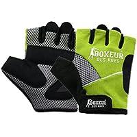 Boxeur Des Rues Fight Activewear, Guanti da Fitness e Allenamento con Pesi Unisex-Adulto, Giallo Fluo, S/M