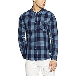 Flying Machine Men's Casual Shirt (8907538631831_FMSH7892_Medium_Blue)