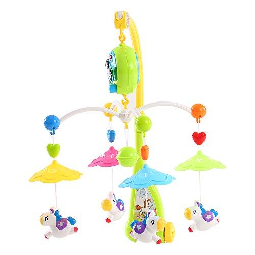 Goolsky Baby Bett Bell Musik Mobile Krippe ein Dreamful Bett Ring hängend Drehen Klingelrassel Intelligenz pädagogisches Spielzeug