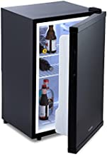 Klarstein Beerbauch Minibar nevera (volumen de 65 litros, clase A+, bajo nivel de ruido, compartimientos en puerta, 3 rejillas, temperatura regulable) - negro