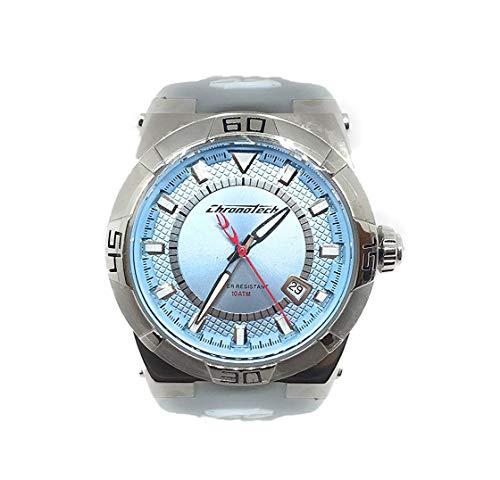 Chronotech orologio analogico quarzo unisex adulto con cinturino in gomma ct7937b-01