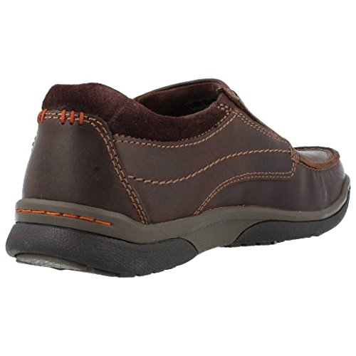 Clarks Randle Free, Mocassins Homme Noir (Dark Brown Lea)