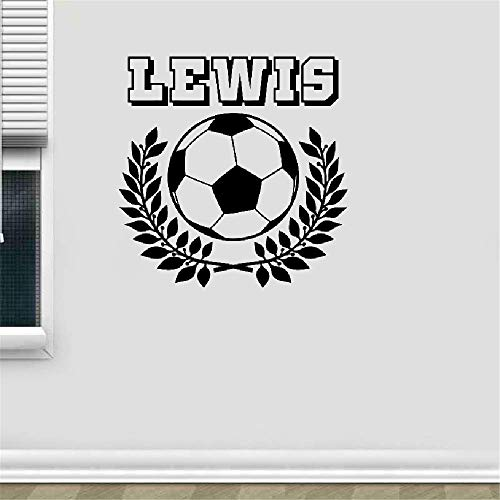 zimmer Kunden gemacht personalisierte Kranz Fußball Sport Aufkleber Kinderzimmer Kinder Namen ()