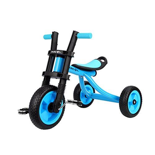 Fascol Triciclo Trike Bicicleta con Ruedas de Gomas para Niños, 2 a 5 Años,Máx Carga 25 kg, Azul