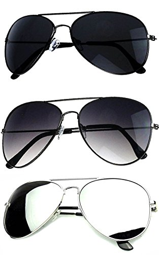 924ff97006b Younky Aviator Unisex Sunglasses Combo (Set of 3)( SETOF-3 -006