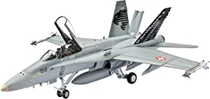 Revell F/A-18C Hornet Swiss Air Force 1:48 Assembly kit Fixed-wing aircraft - maquetas de aeronaves (1:48, Assembly kit, Fixed-wing aircraft, McDonnell Douglas F/A-18 Hornet, Military aircraft, De plástico)