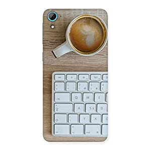 Neo World Keyboard And Coffee Back Case Cover for HTC Desire 826