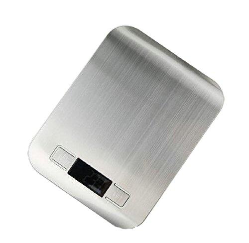ANDYOU-Home hochgenaue Gewicht measurets max Gewicht multifunktions-batterien Nicht eingeschlossen 11lb 5kg digital-oberfläche aus gehärtetem Glas Silber - Glas-digital-skala