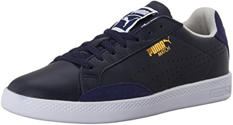 Puma Match Lo Damen Leder Court Sneaker Schuhe UK Größen
