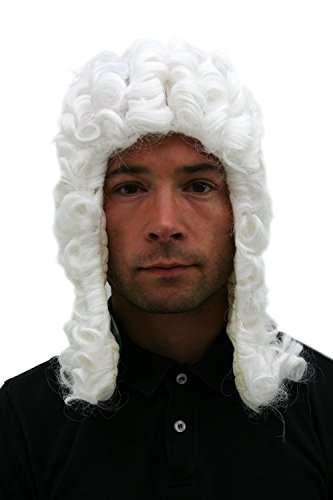 WIG ME UP ® - PW0171-P60 Perücke: Richter Judge Barock Loge Adeliger ()