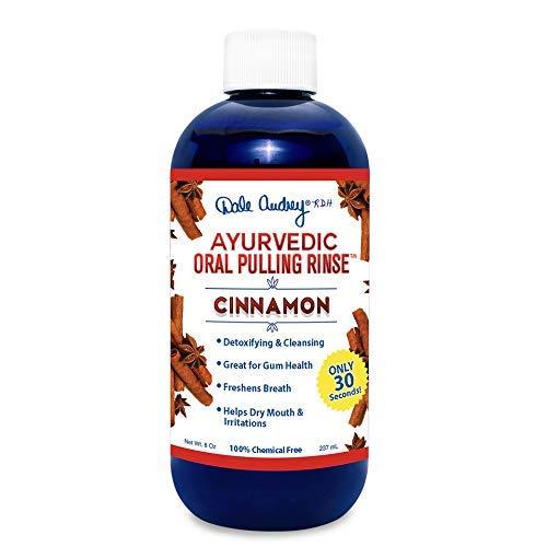 Dale Audrey Ayurvedische Mundspülung pullling, Zimt w freie Zungenreiniger! natürliche und organische 1/5 Monate Versorgung - 8 Unzen - 8-unzen-natürliche