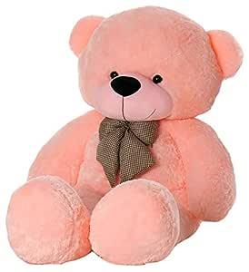 Webby 5 Feet Huggable Teddy Bear with Neck Bow (Pink)