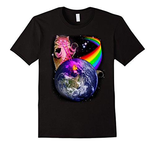 PREMIUM Epic & Awesome Laser Eyes Space Cat tShirt ON SALE
