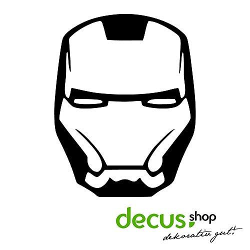 Iron Man Helm// Sticker OEM JDM Style Aufkleber (Weiß)