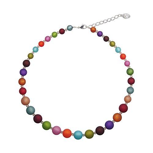 perla pd design Halskette aus Echten Polarisperlen ca. 45 cm + 4.5 cm Handarbeit