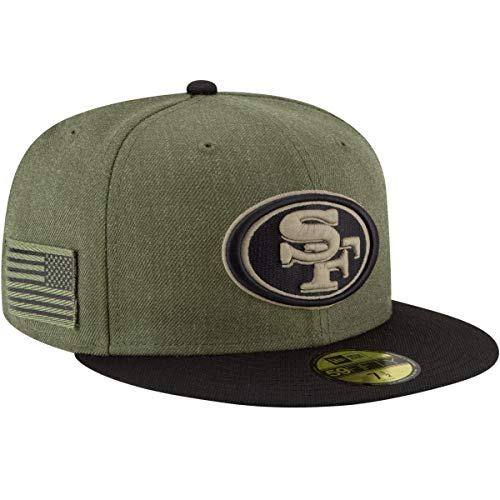 New Era San Francisco 49ers Onfield 18 Salute to Service 59FIFTY, Olive, Gr. 7 1/4, Gr. 57,8cm