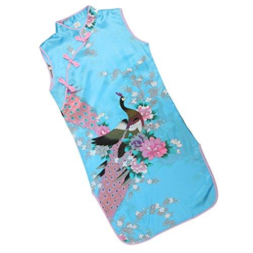 Sharplace Kinder Mädchen Qipao Cheongsam Geisha Kostüm Partykleider -