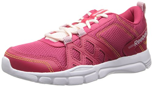 Reebok Women's Trainfusion 3.0 MT Cross-Training Shoe,Magenta Pop/Polar Pink/Solar Gold/White,7 M US (Gold Toe Liner)