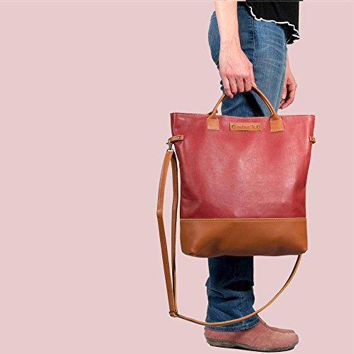 Lederbeutel, Einkaufstasche, große Ledertasche, Handtasche