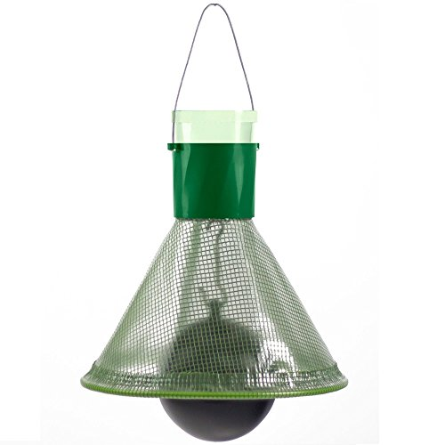 MT-trap Wespen- und Bremsenfalle mit schwarzem Ball, grüner Kunststofftrichter, Aufhänger, Luftpumpe