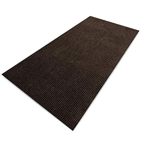 Floori Küchenläufer | strapazierfähiger Teppich Läufer für Küche, Flur UVM. | Teppichläufer/Flurläufer in vielen Größen und Farben | 100x250cm, braun