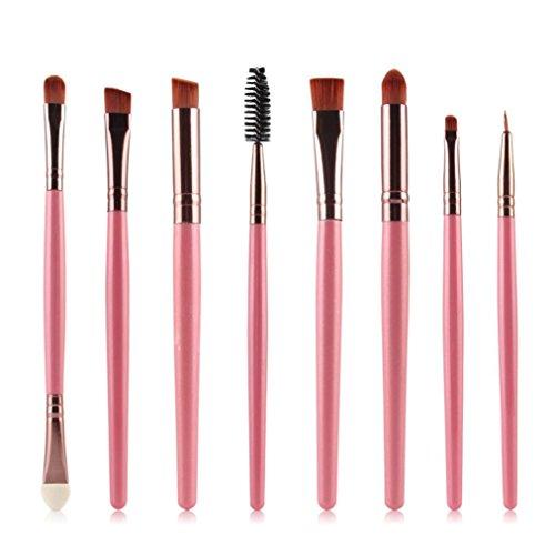 Clode® 8pcs Brosse cosmétiques Maquillage Brush Pinceau fard à paupières rose