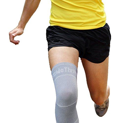 Kompression Kniebandage & Kniestütze schützt bei Sport, Bodybuilding, Joggen & Fitness – Knie Bandage & Knieschützer, schmerzlindernd & stabilisierend bei Meniskus Verletzung & Kreuzbandriss