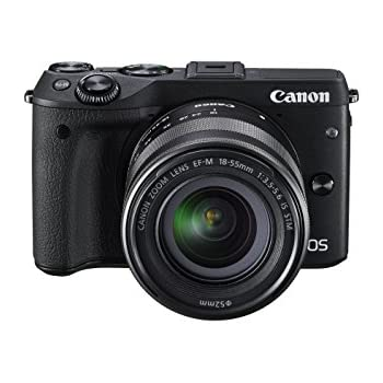 Canon EOS M3 Compact System Camera with EF-M 18-55 mm f/3.5-5.6 STM Lens, Black