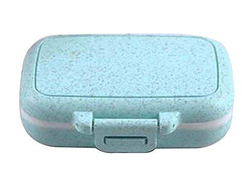 [Blau-1] Kleine Pill Box Pille Fällen Medizin Dispenser Pille Container (Monatliche Pille Veranstalter)