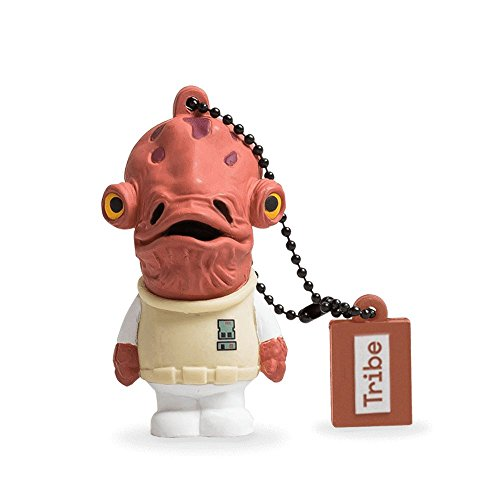 Tribe Disney Star Wars Admiral Ackbar USB Stick 8GB Speicherstick 2.0 High Speed Pendrive Memory Stick Flash Drive, Lustige Geschenke 3D Figur, USB Gadget aus Hart-PVC mit Schlüsselanhänger – Mehrfarbig