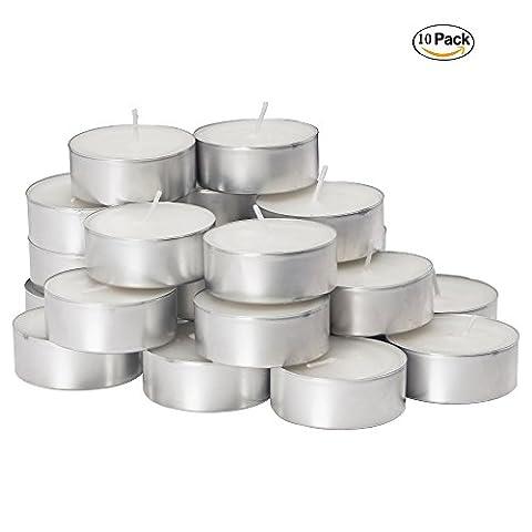 Ducomi® Essence–Bougies parfumées et colorées avec autonomie jusqu'à 2heures en boîte de alluminio- bougies idéal pour fêtes et décoration–Crée l'atmosphère, l'esprit et l'équilibre juste, blanc