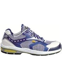 Cofra zapatos de seguridad Fore Check S1P New Jogging 19090–001, transpirable, color azul