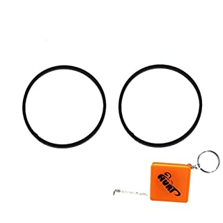 HURI 2x Carburettor Bowl Gasket O Ring Seal for Qualcast Classic 35s, 43s, Atco Balmoral 14s, 14se, 17s, 17se, 20s, 20se, Suffolk Punch 14s, 17s Mowers with AQ148 Aluminium 148cc Engines