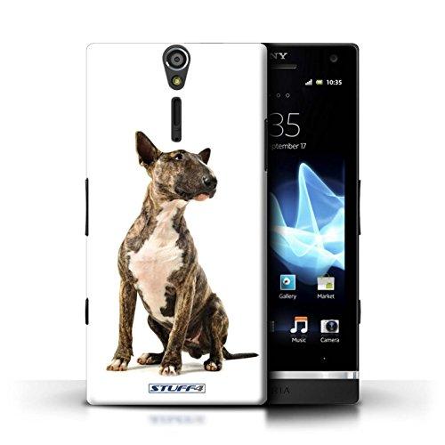 Kobalt® Imprimé Etui / Coque pour Sony Xperia S/LT26i / Cocker Spaniel conception / Série Chiens Bull Terrier