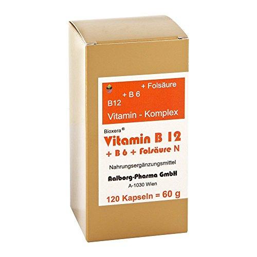 Vitamin B12 + B6 + Folsäure Komplex N Kapseln 120 stk