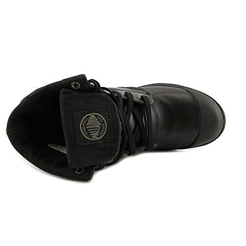 Palladium Baggy Heel Cuir Botte Black-Metal