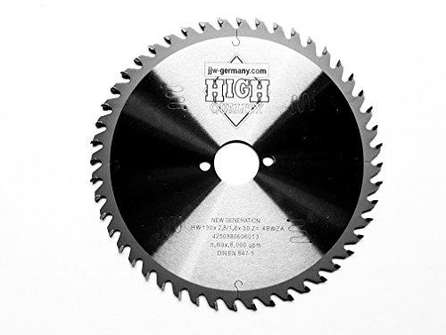 Preisvergleich Produktbild HM-Kreissägeblatt New Generation 190 x 2,8 x 30 mm mit 48 Wechselzahn LOW NOISE