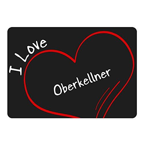 Mousepad Modern I Love Oberkellner schwarz