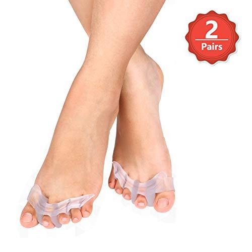 Gel separatore per le dita dei piedi, correttori dilatatori per ballerini, Yogis e atleti, trattamento per le cipolle, sollievo mal di piedi, alluce valgo
