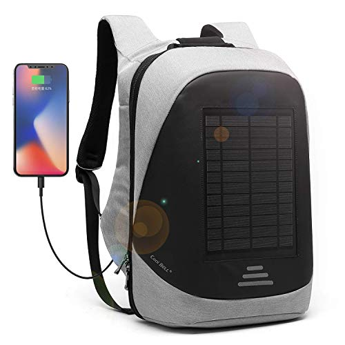 CoolBell Solar-Panel Rucksack mit USB Ladeanschluss Stadt