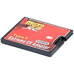 QUMOX MicroSD pour CF Compact Flash Lecteur de Carte mémoire de Type 1 Adaptateur
