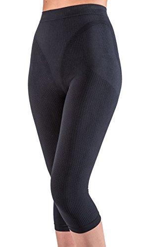 Pantalón corto anti-celulítico, vaina con funda interna sin costuras - Negro tamaño M